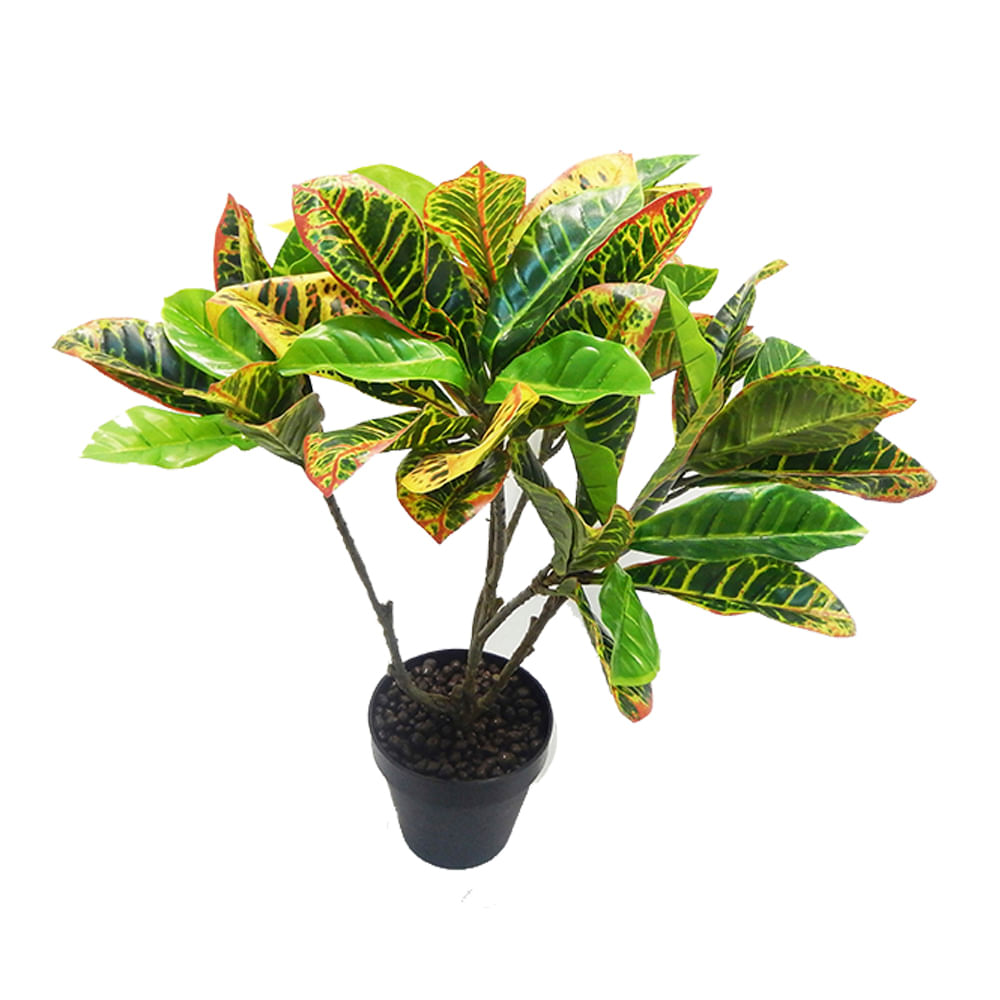 Planta artificial crot n verde pl stico metal y otros - Plantas de plastico ikea ...