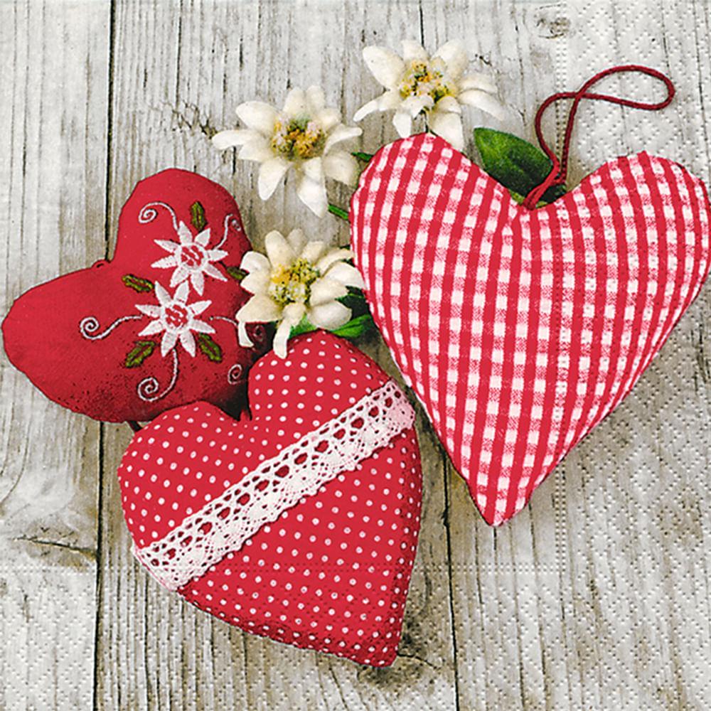 Servilleta 33x33cm san valentin ro colores 20un - FloraCenter ...