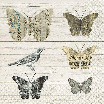 Servilleta 33x33cm mariposas de papel colores 20un - FloraCenter ...