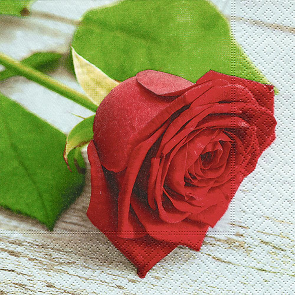 Servilleta 33x33cm Rosa Roja Colores 20un Floracenter