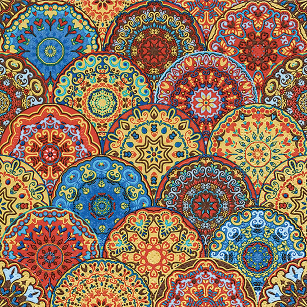 Servilleta 33x33cm Mandala Colores 20un Floracenter Floracenter