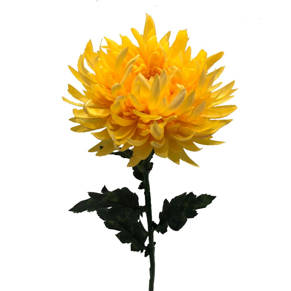 Flor Crisantemo 60cm Amarillo
