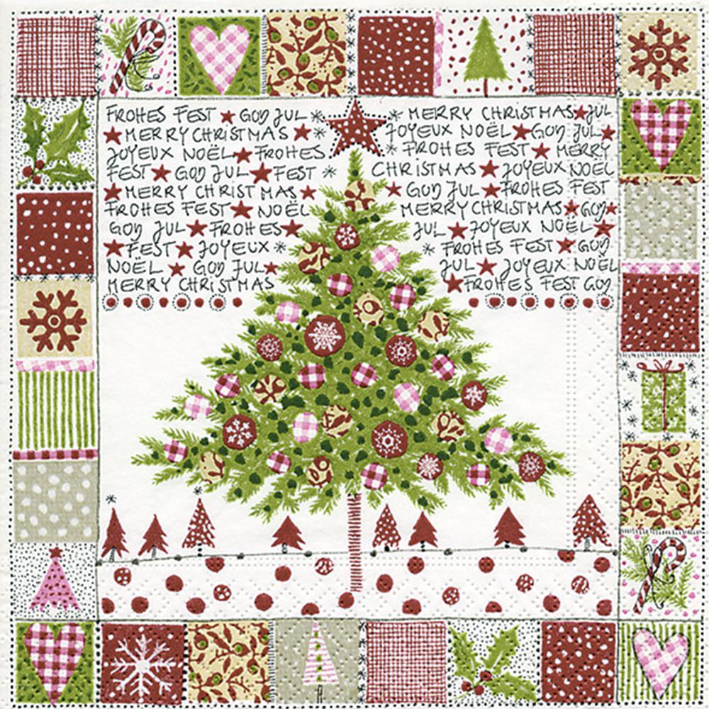 Servilletas navidad 33x33cm Pino Colage Colores Papel 20 un ...